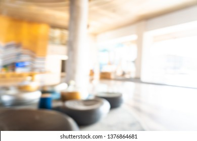 Abstract blur and defocused hotel lobby interior for background