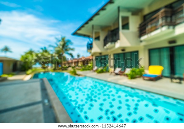 Abstract blur and defocused hotel and resort background for travel and vacation