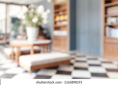 abstract blur and defocused living room designed in vintage style for background