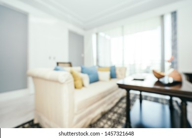 Abstract blur and defocused living room interior decoration for background