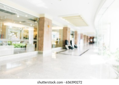 Abstract blur and defocused lobby in hotel interior for background - Vintage light Filter