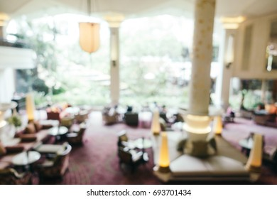 Abstract blur and defocused luxury hotel looby and lounge interior for background