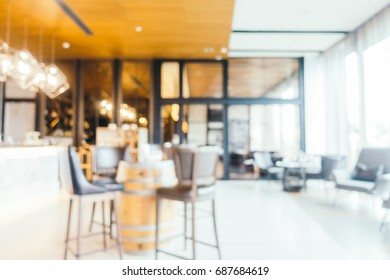 Abstract blur and defocused restaurant interior for background