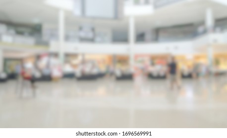 Abstract blur and defocused shopping mall for background.