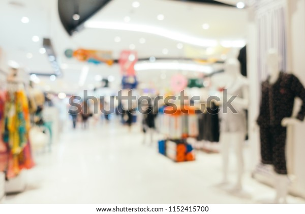 Abstract blur and defocused shopping mall of department store interior for background