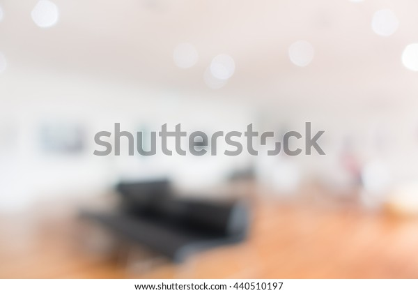 Abstract blur empty room interior for background