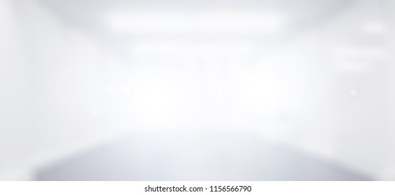 Abstract Blur empty white room for background