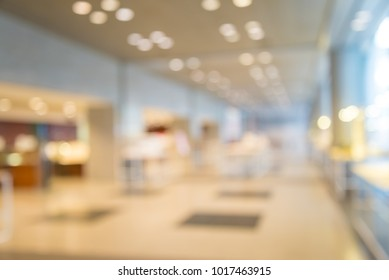 Abstract blur exhibition hall background