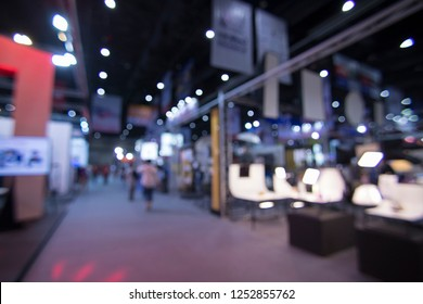 Abstract blur exhibition hall event background, job fair, technology expo,exhibitions,