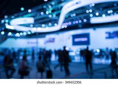 Abstract blur exhibition hall event background