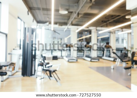 Abstract blur fitness equipment gym room stock photo edit now