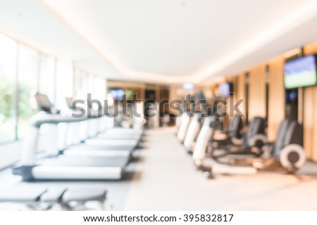 Abstract blur fitness gym room interior stock photo edit now