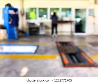 Abstract blur focus checker clear order in shop for car tax
