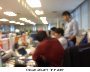 abstract blur focus four man solve problem on network in NOC room - Shutterstock ID 443428504