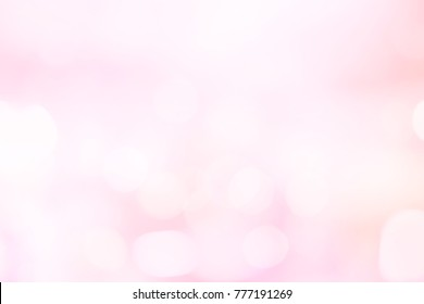abstract blur glowing pastel tone of pink blush color gradient with double exposure bokeh light background for Valentine's day and international women day concept