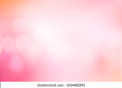 abstract blur glowing pink blush gradient shade color background for Valentine's Day concept
