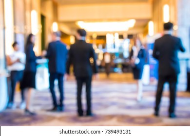 Abstract blur group of people in business meeting, professional corporate event