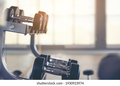 Abstract blur gym Fitness interior and free space for your decoration and background