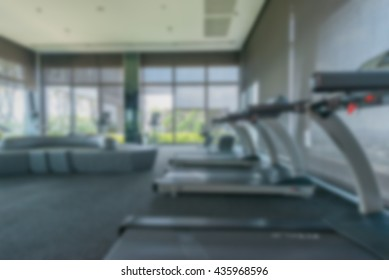 Abstract blur gym and fitness room interior  for display of your product
