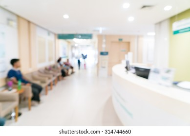Abstract blur hospital background