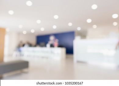 Abstract blur hospital clinic counter interior defocused medical background