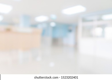 Abstract blur hospital and clinic interior for background.