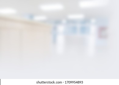 Abstract blur hospital and clinic interior for background