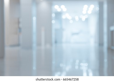 Abstract blur hospital or clinic interior for background