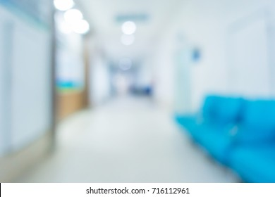Abstract blur hospital and clinic interior for background, Medical blured background.