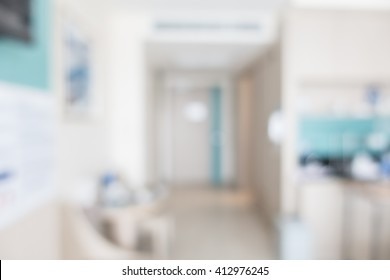 Abstract blur hospital room interior for background