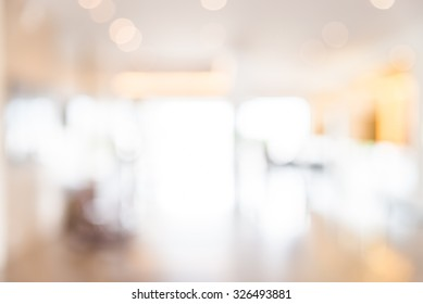 Abstract blur hotel lobby background