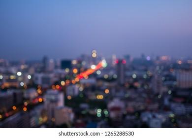 Abstract blur image of Bangkok city.