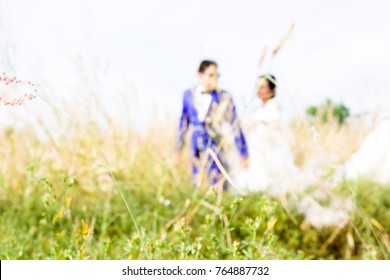 Abstract Blur image of Pre wedding love concept love time love festival