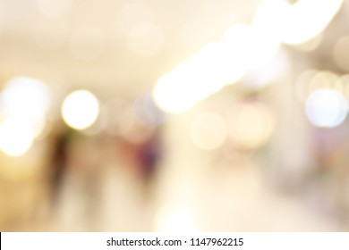 Abstract blur image of Shopping mall with bokeh for background usage
