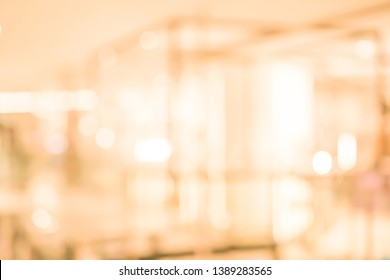 abstract blur interior luxury hotel with bokeh light background for design