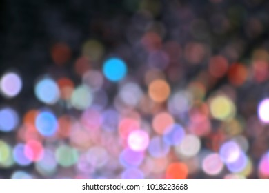 Abstract blur of lighting celebration