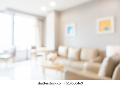 Abstract blur living room area interior for background