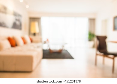 Abstract blur living room interior for background