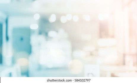 Abstract blur lounge background. Interior restaurant lifestyle image counter bar concept for jewellery banner, supermarket, white desktop texture solution: Idea create advertising text and number.