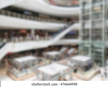Abstract blur luxury shopping mall and retail store interior for background