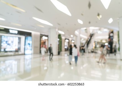 abstract blur in luxury shopping mall for background