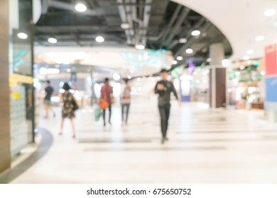 abstract blur in luxury shopping mall and retail store for background
