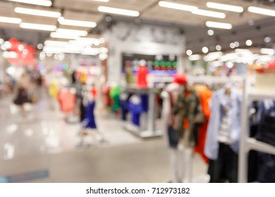 abstract blur luxury shopping mall, retail front store display interior background