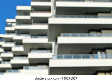 Abstract blur of modern apartment building.