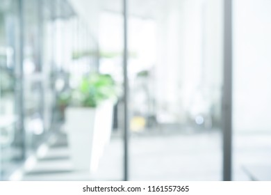 abstract blur of modern interior building corridor background for presentation design element concept