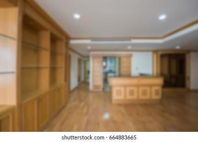 Abstract blur Modern living room interior
