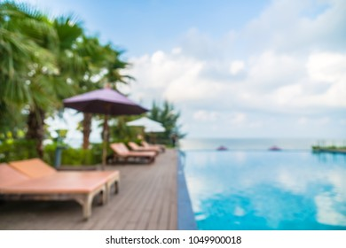 Abstract blur outdoor swimming pool in hotel and resort - Vacation concept