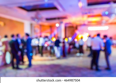 Abstract blur people in party and concert, nightlife sociability lifestyle concept