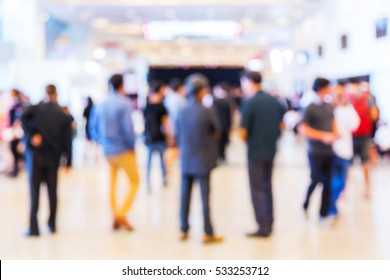 Abstract blur people in party or press conference event, business and entertainment concept