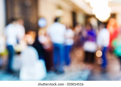 Abstract blur people in party, sociability lifestyle concept
